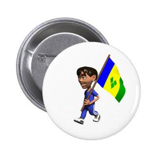 Grenadine Boy Pinback Button