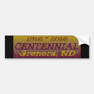 Grenora Centennial Memorabilia Car Bumper Sticker