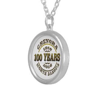 Grenora Centennial Memorabilia Round Pendant Necklace
