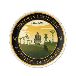 Grenora Centennial Official Logo Collectors Plate Porcelain Plates