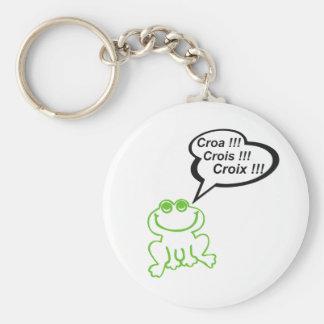 Grenouille vert noir key chain