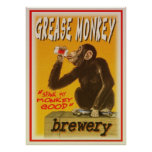 grese monkey brewery poster
