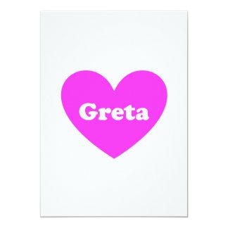 Greta 13 Cm X 18 Cm Invitation Card