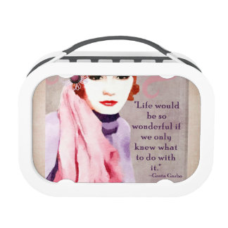 Greta Garbo Quote on Life Lunchboxes