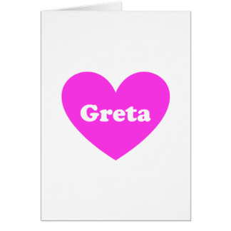 Greta Greeting Card