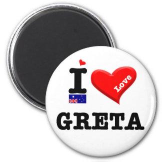 GRETA - I Love 6 Cm Round Magnet