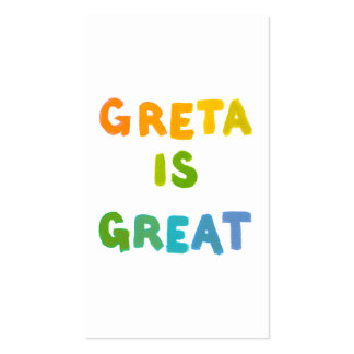 Greta is Great fun colorful name gifts happy art Pack Of Standard Business Cards