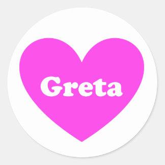Greta Round Sticker