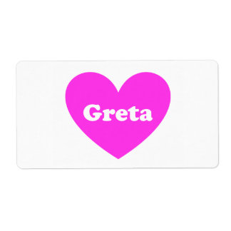 Greta Shipping Label