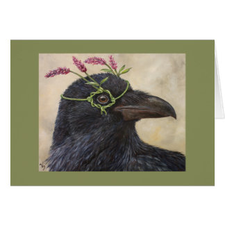 """Greta"" the raven card"