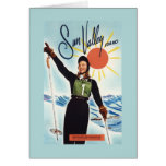 Gretchen Fraser Advertisement Poster Greeting Cards