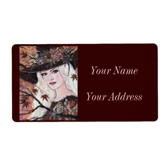 Gretchen woodland witch lables Renee Lavoie Shipping Label
