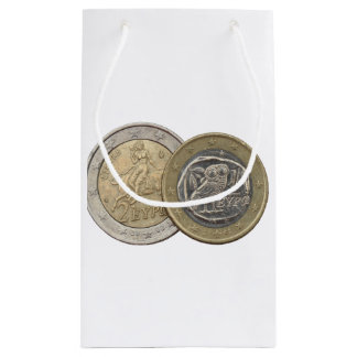 Grexit: soon to be rare greek euro coins small gift bag