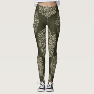 Grey Abstract Mandala Leggings
