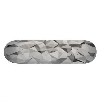 grey abstract pattern custom skateboard