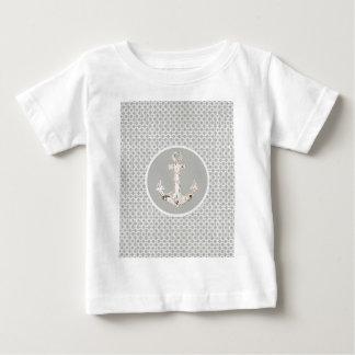 grey abstract pattern vintage anchor nautical shirt