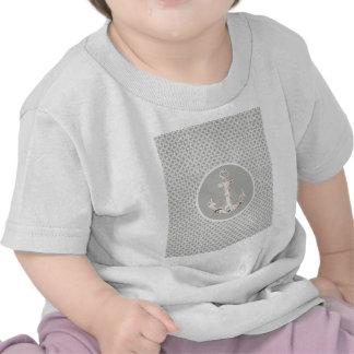 grey abstract pattern vintage anchor nautical t-shirts