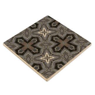 Grey abstract Pattern Wood Coaster