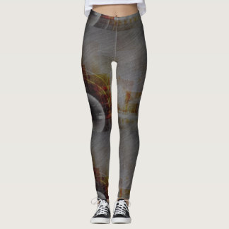 Grey Abstract Patterned Peggings Leggings