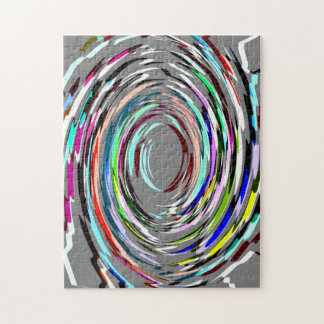 Grey Abstract Swirl Puzzle/Jigsaw Jigsaw Puzzle
