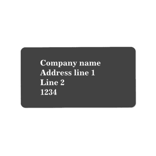 Grey Address Label