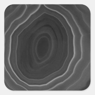 Grey agate slice original modern design coaster square sticker