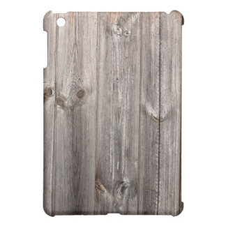 "Grey ""aged wood"" faux texture iPad mini cover"