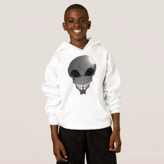 Grey alien Kids' Hanes ComfortBlend® Hoodie