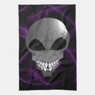 Grey alien Kitchen Towel