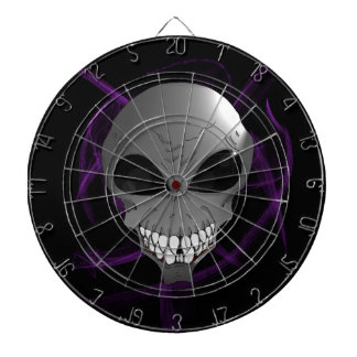 Grey alien Metal Cage Dartboard