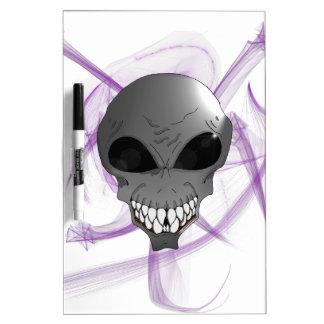 Grey alien Pen Dry Erase Board