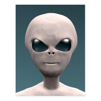 Grey Alien Postcard