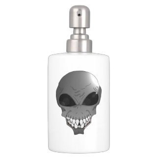 Grey alien Toothbrush Holder & Soap Dispenser Set