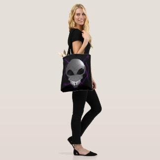 Grey alien tote bag