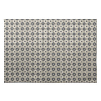 Grey and Beige Mosaic Pattern Placemat