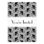 Grey and Black Bicycle Pattern.