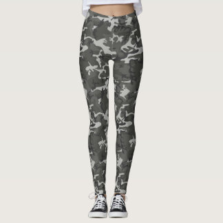 Grey and Black Camo Tights