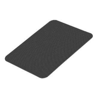 Grey and Black Diagonal Stripes Rectangular Photo Magnet