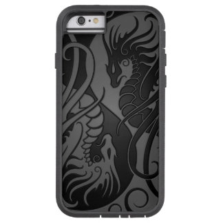Grey and Black Flying Yin Yang Dragons Tough Xtreme iPhone 6 Case