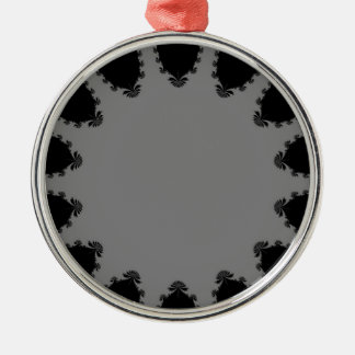 Grey and Black Fractal Art Christmas Tree Ornament