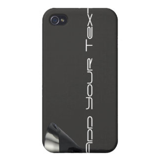 Grey and Black Martini Glass Business Case For The iPhone 4