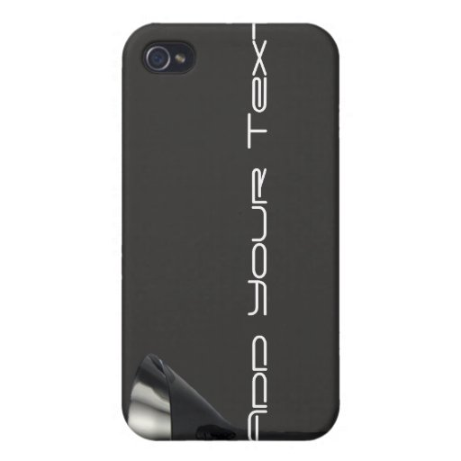 Grey and Black Martini Glass Business iPhone 4/4S Cover