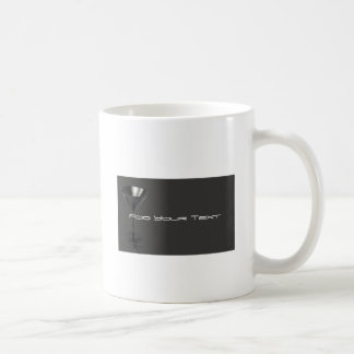 Grey and Black Martini Glass Business Classic White Coffee Mug