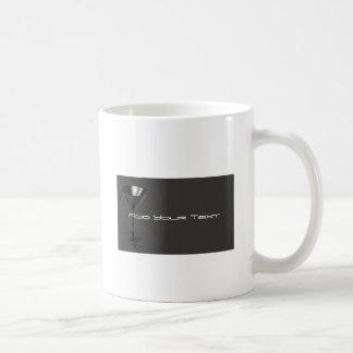 Grey and Black Martini Glass Business Classic White Coffee Mug