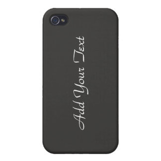 Grey and Black Wine Bottle Business iPhone 4 Cover