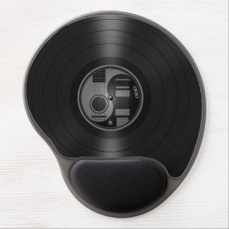 Grey and Black Yin Yang Guitars Vinyl Graphic Gel Mouse Pad
