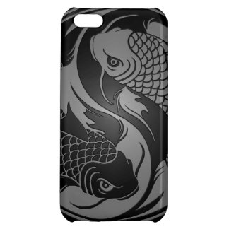 Grey and Black Yin Yang Koi Fish iPhone 5C Case