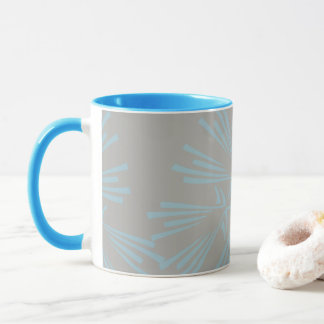 Grey and Blue Abstract Pattern Coffee Mug