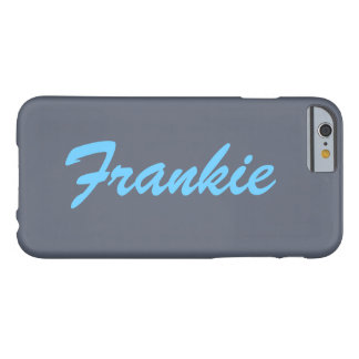 Grey and Blue Name Monogram iPhone 6 case Barely There iPhone 6 Case