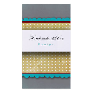 Grey and blue polka dots Business Cards